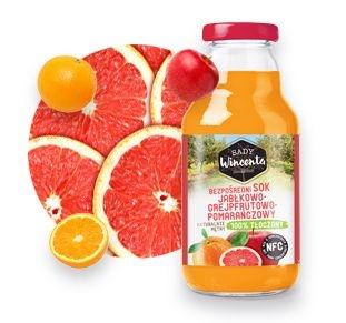 Sok jabłkowo - grejpfrutowo - pomarańczowy